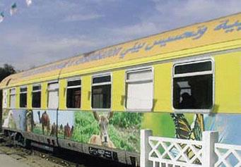 Le train après décoration