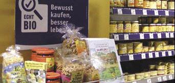 Promotion des produits alimentaires biologiques utilisant des visuels de la campagne