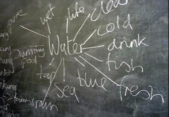 Image d'un tableau lors d'un séminaire de réflexion sur les ressources en eau