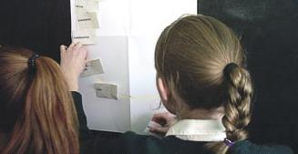 Étudiants participant à un exercice sur le cycle de l'eau lors d'un atelier