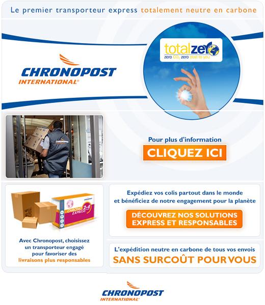 Chronopost - Mailing « Choisissez un transporteur plus responsable »