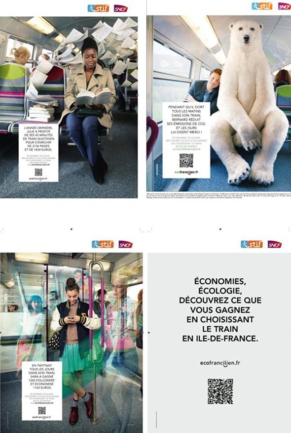 Les visuels de la campagne ecofrancilien.fr