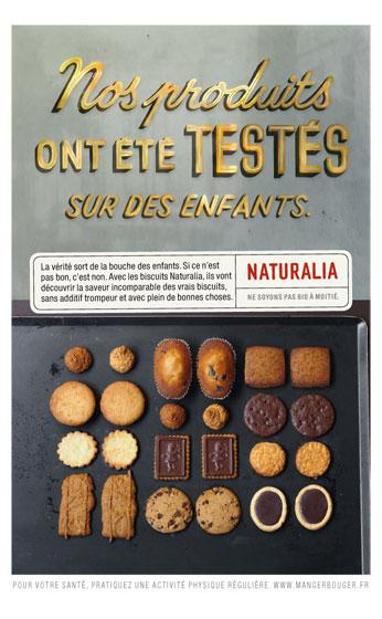 Naturalia « Ne soyons pas bio à moitié » - Biscuits - Septembre 2011