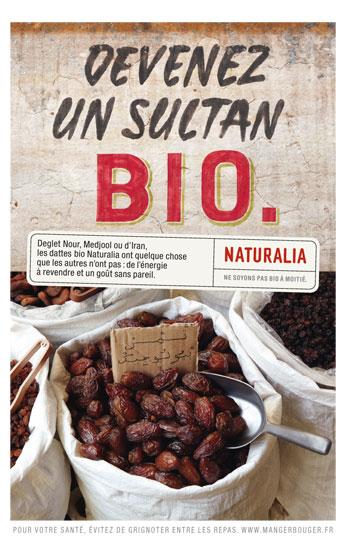 Naturalia « Ne soyons pas bio à moitié » - Dattes - Octobre 2011