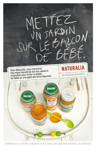 Naturalia « Ne soyons pas bio à moitié » - Pots bébé - Mars 2011
