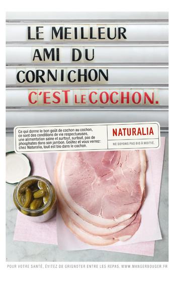 Naturalia « Ne soyons pas bio à moitié » - Cochon - Novembre 2011