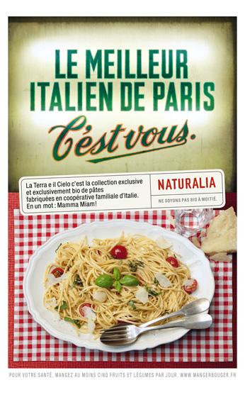 Naturalia « Ne soyons pas bio à moitié » - Pâtes - Juin 2011