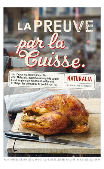 Naturalia « Ne soyons pas bio à moitié » - Poulet - Juin 2011