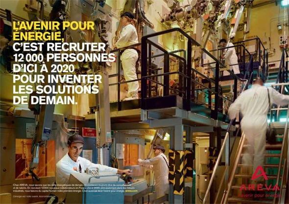 Areva - L'avenir pour énergie - Emploi