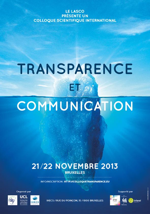 Affiche colloque international « Transparence et Communication »