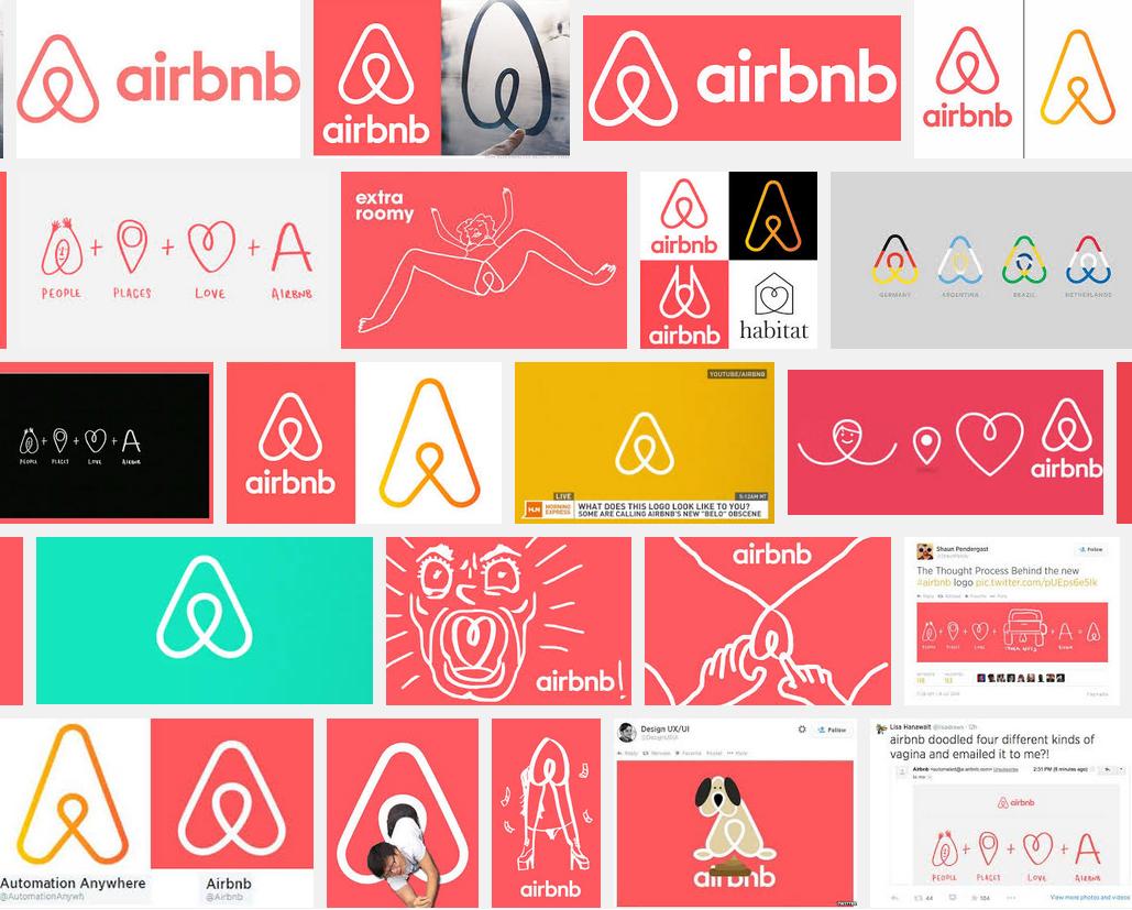 Le nouveau logo Airbnb et quelques détournements