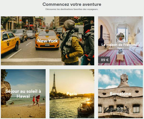 Les destinations favorites des voyageurs Airbnb