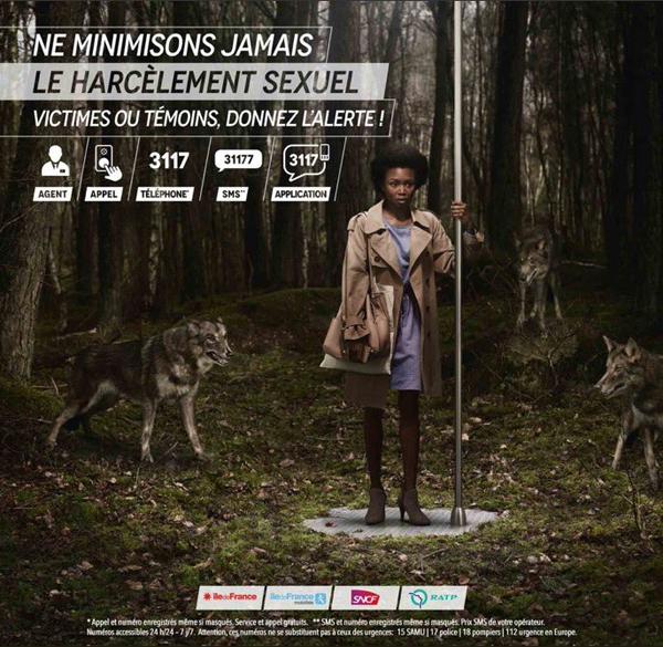 Visuel campagne contre le harcèlement - IDF Mobilités - Loups